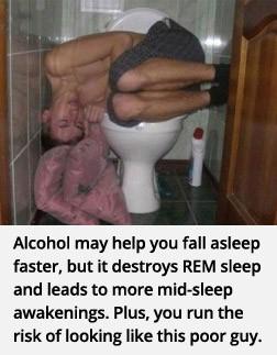 consommer alcool dormir fatigue sommeil cerveau